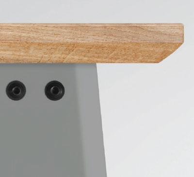 HELLGRAU gepulvertes Stahlblech