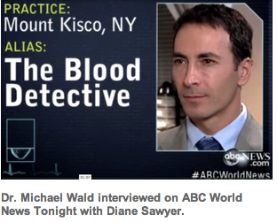 "Dr. Wald, The Blood Detective, is interviewed about hidden signs of disease ""in plain sight."""