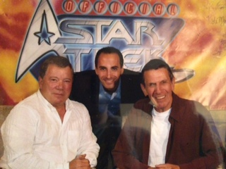 Dr. Michael Wald, William Shatner and Leonard Nimoy - photo taken at the first comic con where they took pictures together with fans.