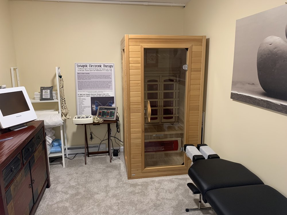 Detox sauna, chiropractic and electrotherapy - to alleviate your pain, restore motion and balance. The Office of Dr. Michael Wald 914-552-1442