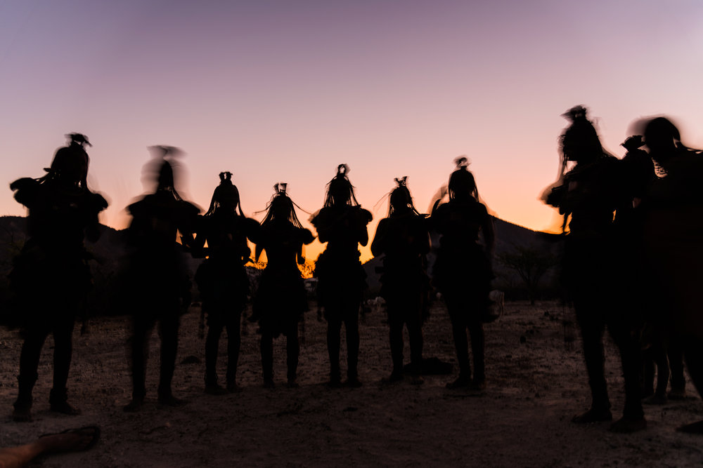 Himba Evening Song  Otjimazeva Village, Namibia