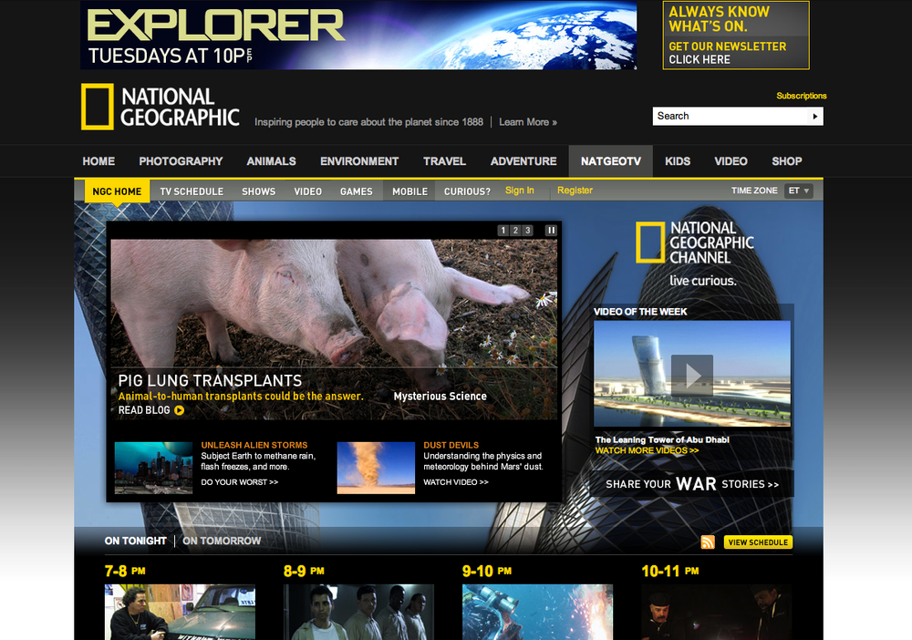 Nat Geo Channel EXPLORER