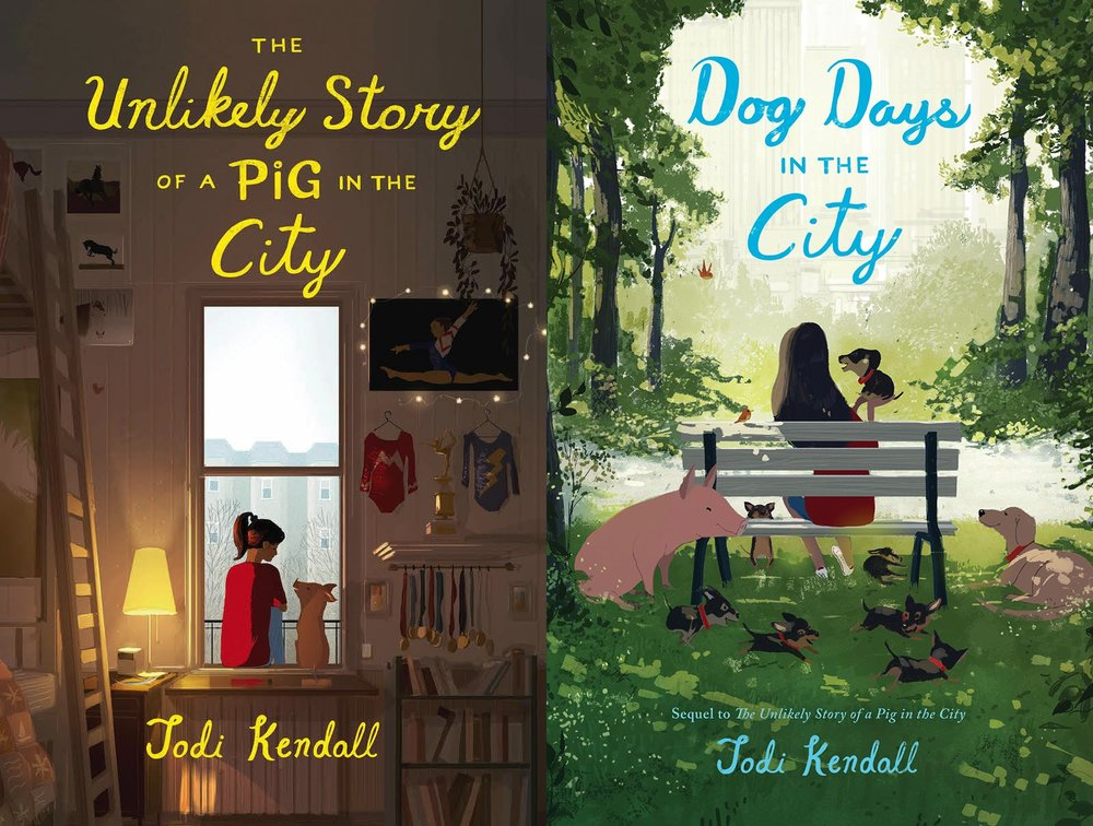 DOG DAYS IN THE CITY is the sequel novel to THE UNLIKELY STORY OF A PIG IN THE CITY.
