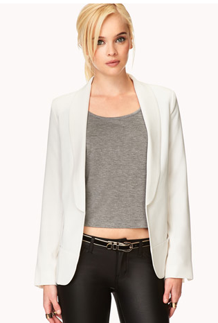 Forever 21 Sleek Open-front Blazer
