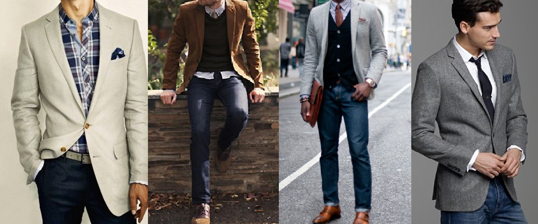 Image result for blazer and jeans men look