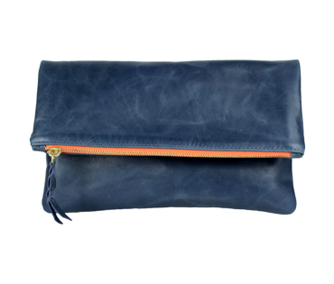 K.slademade Foldover Clutch in Navy