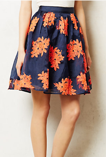 Anthropologie Pomme Blossom Skirt