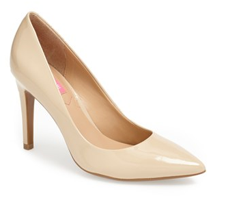 And of course, there is the ever-classic pointed toe nude heel. A bit lower for those who can't do the sky-high  pump, this is a traditional nude shade by Isaac Mizrahi