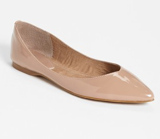 "For those that say ""comfort is key"" and are on their feet a lot, try a chic flat. A pointed-toe gives the illusion of longer legs and smaller feet. This one by BP doesn't break the bank, either!"