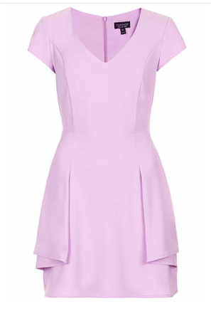 Peplum Fit & Flare Dress, Topshop