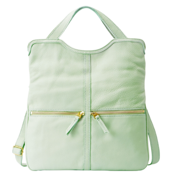 Fossil Erin Tote in Pastel Green