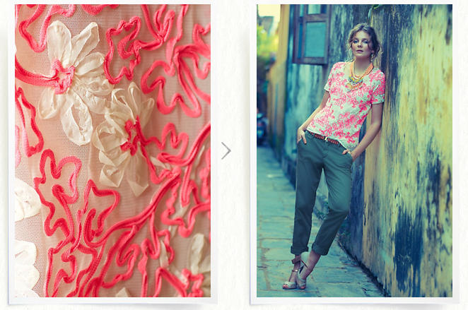You can get the look for yourself; this top is still at Anthropologie & now on sale!