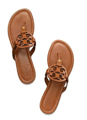 Ready to splurge on a great go-to pair of flip flops? These camel Tory Burch emblem sandals are the perfect choice. AND, 25% off through Monday!