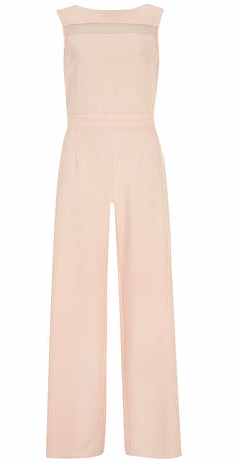 wide-leg, blush crepe jumpsuit by Dorothy Perkins