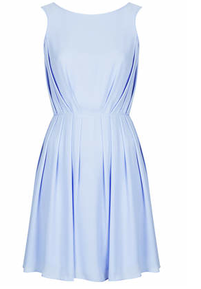 Loving the gray blue hue of this Topshop dress