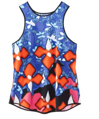 Peter Pilotto Red Iris Tank,  $8.74