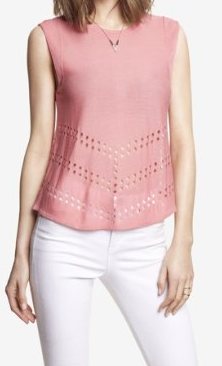 Fine Gauge Cut-Out Sweater Shell, Express