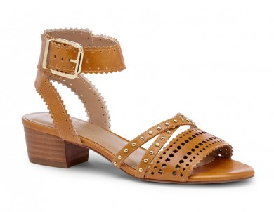 Sole Society Studded Block Heel Sandal