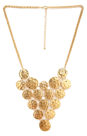 Forever 21 Hammered Coin Necklace