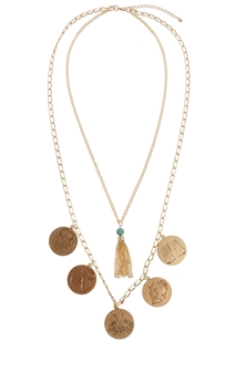 ASOS Zodiac Coin Necklace