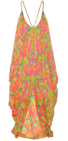 Mara Hoffman Garlands Printed Chiffon Cover-Up