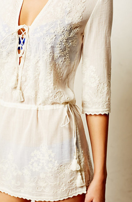 Anthropologie Drop-Waist Cover-Up
