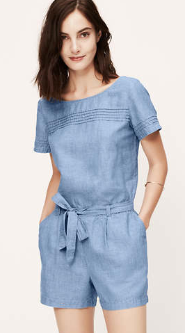 My chambray romper, from the LOFT