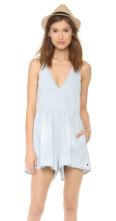 Shopbop Chambray Romper