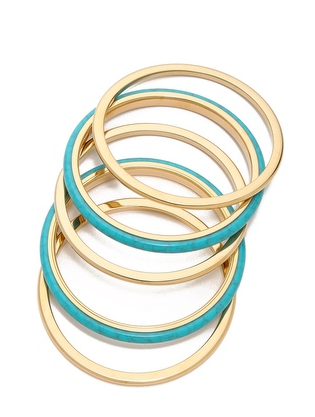 Michael Kors 5 Stack Bangle Bracelet, Shopbop