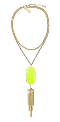 Kendra Scott Rayne Necklace in Neon Yellow