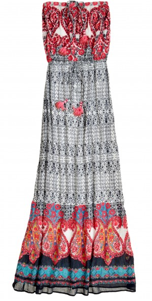 Farica Embroidered Cotton Maxi