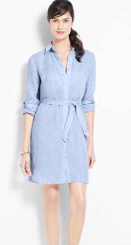 b49cf6f8 Linen Shirtdress, Ann Taylor