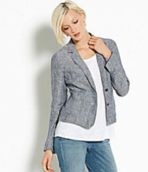 Eileen Fisher Linen Chambray Blazer