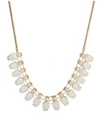 White Shimmer Pearl Statement Necklace