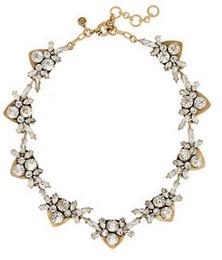 J.Crew crystal + CZ necklace