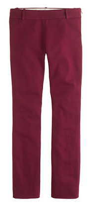 Perfect for Fall :: Cranberry Minnie Pant, JCrew
