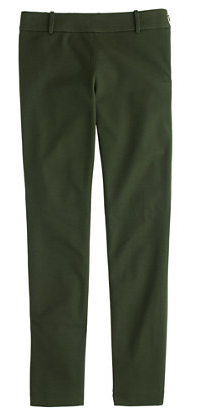 Olive Green Minnie Pant, JCrew