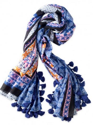 Morroccan Pom Pom scarf