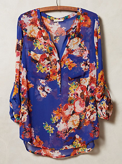 Anthropologie Kennedia Henley Blouse