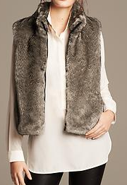 Banana Republic Faux-Fur Vest - 20% off today!