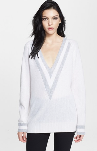 Rag & Bone Talia V-Neck Sweater in Cashmere, $495