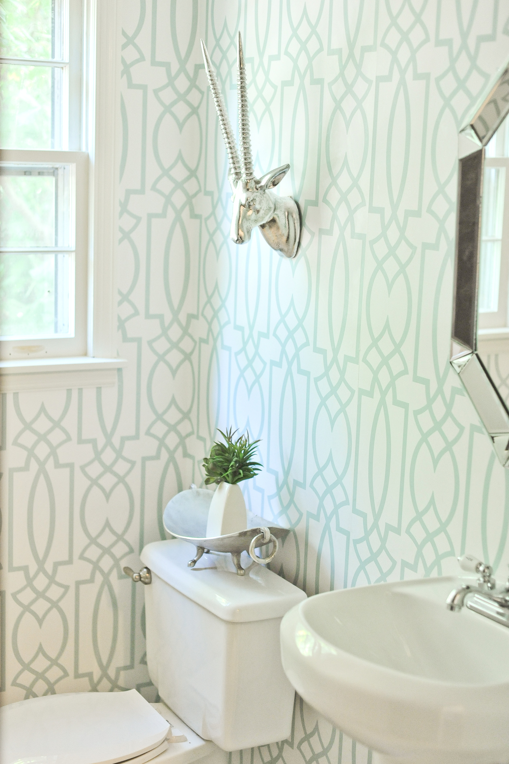 wallpaper powder room lifestyled atlanta