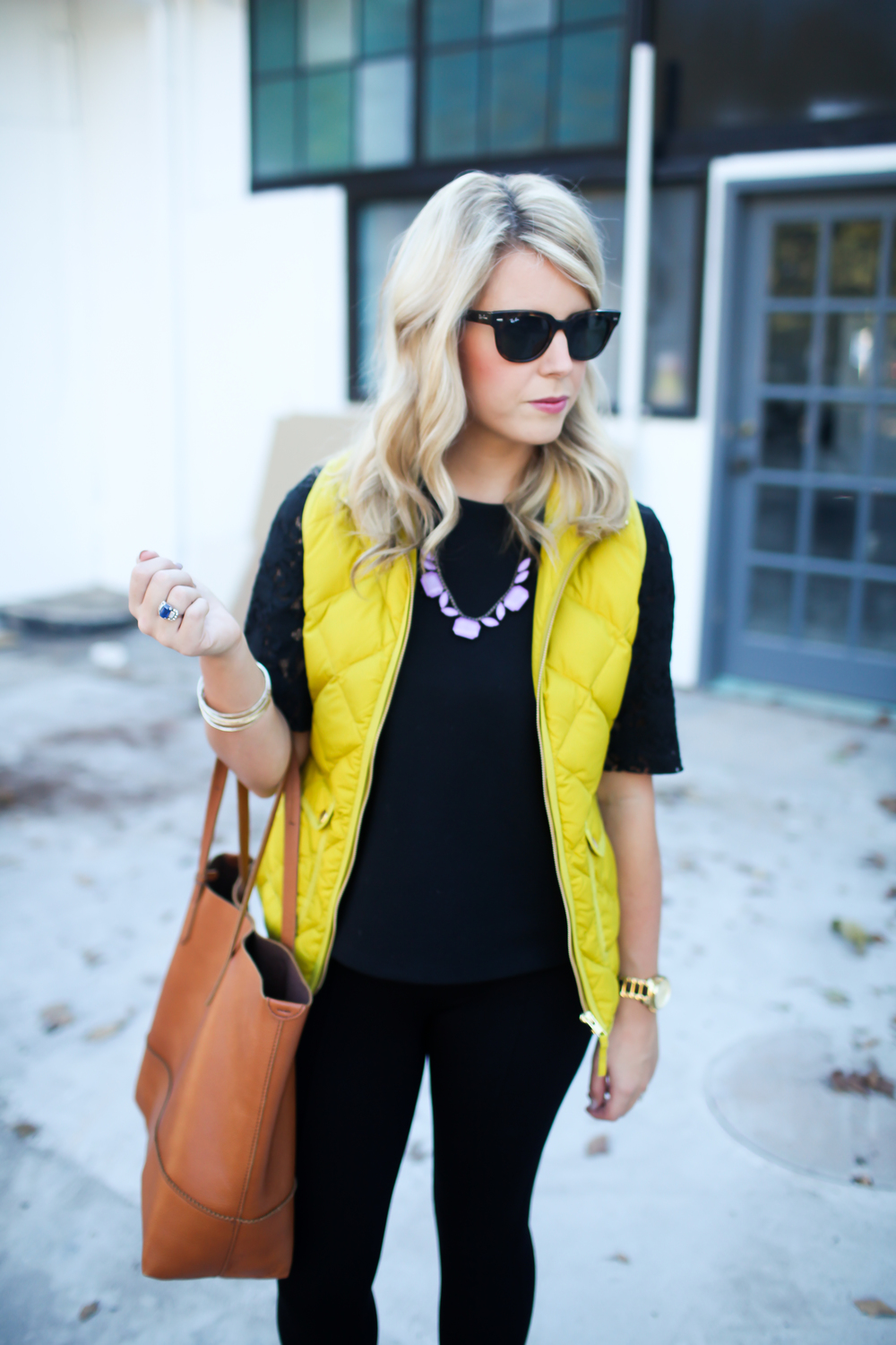 jcrew puffer vest lifestyled atlanta
