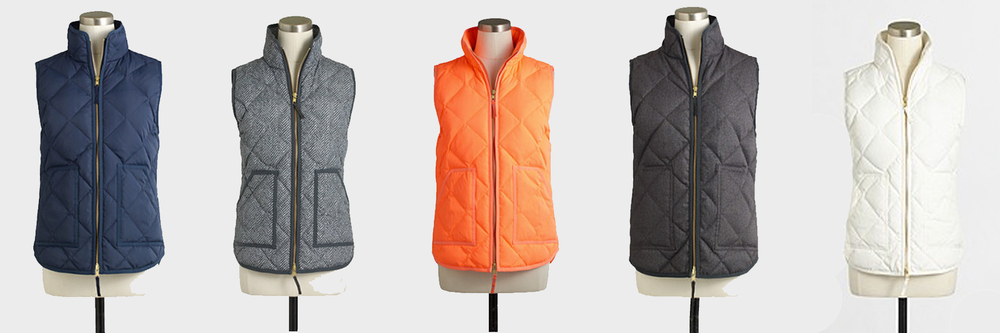 jcrew puffer vests
