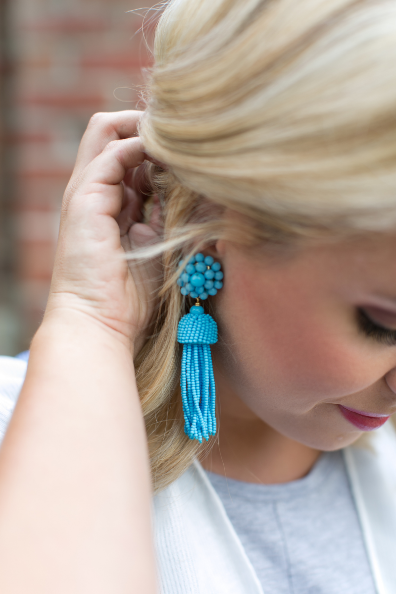 tassel earrings lifestyled atlanta