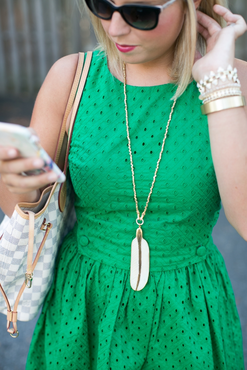 vintage green jewelry lifestyled atlanta