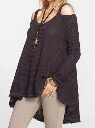 Free People 'Cold Shoulder' Sweater