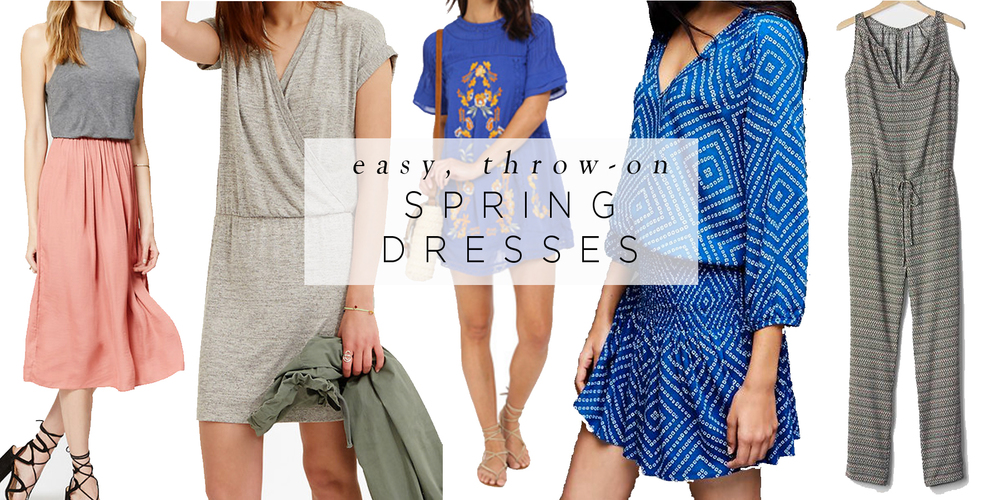 Easy Throw-On Spring Dresses