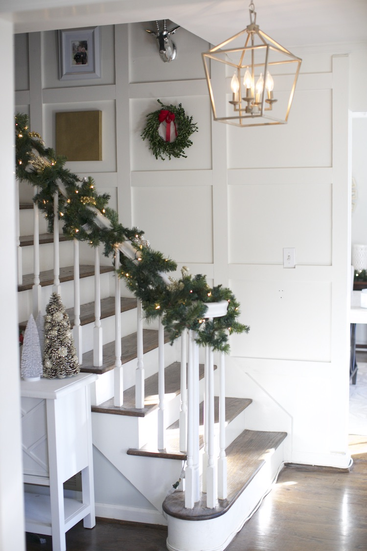 Home Depot Holiday Style Challenge Part 2 | Square Paneled Staircase ...