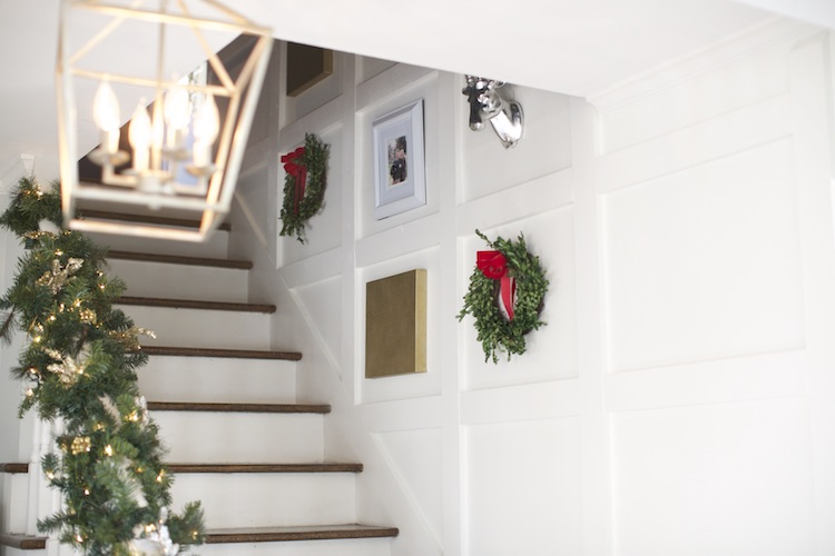Home Depot Holiday Style Challenge Part 2 Square Paneled Staircase